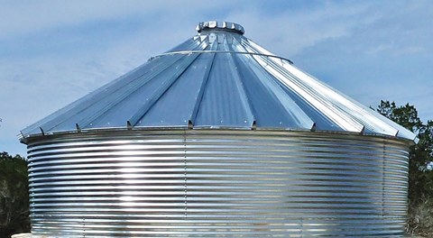 Water Storage Tank 30-Degree Roof