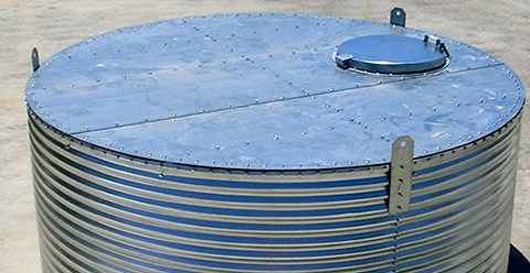 Water Storage Tank Flat Roof