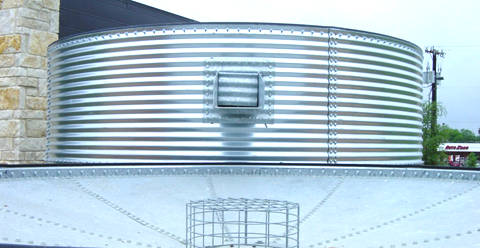 Water Tank With Inverted Roof